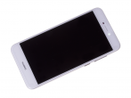 02351DLU - Front cover with touch screen and LCD display and battery Huawei PRA-LX1 P8 Lite 2017 - white (origi...