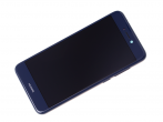 02351EUV - Front cover with touch screen and LCD display + battery Huawei PRA-LX1 P8 Lite 2017 - blue (original...