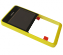 02503G8 - Front cover Nokia 210 Asha - yellow (original)