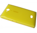 02504J9 - Battery cover Nokia 503 Asha - yellow (original)