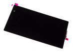 1287-0444 - Front cover with touch screen and display Sony Xperia Tablet Z3 Compact - SGP611 / SGP612 - black (o...