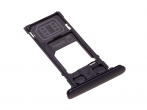 1313-0940 - SIM tray card Sony H8314 Xperia XZ2 Compact - black (original)