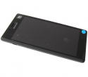78P7120002N - Front cover with touch screen and LCD display Sony D2302 Xperia M2 Dual - black (original)