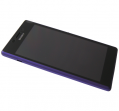 78P7120005N - Front cover with touch screen and LCD display Sony D2303/ D2305/ D2306 Xperia M2 - purple (original)