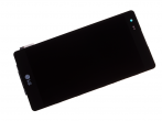 ACQ89209202 - Front cover with touch screen and LCD display LG K200 X Style - black (original)