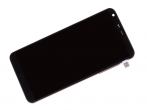 ACQ89384002 - Front cover with touch screen and LCD display LG H870 G6 - black (original)