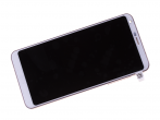 ACQ89384003 - Front cover with touch screen and LCD display LG H870 G6 - white (original)