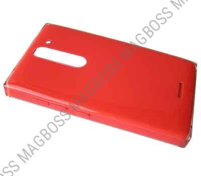 02503V3 - Battery cover Nokia 502 Asha - red (original)