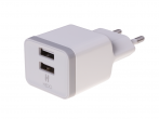 - Charger adapter HEDO 2xUSB 2,4A - white (original)