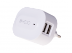 - Charger adapter USB HEDO 2xUSB 3,4A - white (original)
