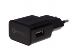 - Charger adapter USB HEDO Qualcomm Quick Charge 3.0 2A - black (original)