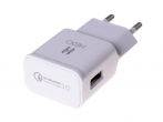 - Charger adapter USB HEDO Qualcomm Quick Charge 3.0 2A - white (original)