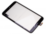 Front cover with touch screen Alcatel P350X One Touch Pop8 - black (original)