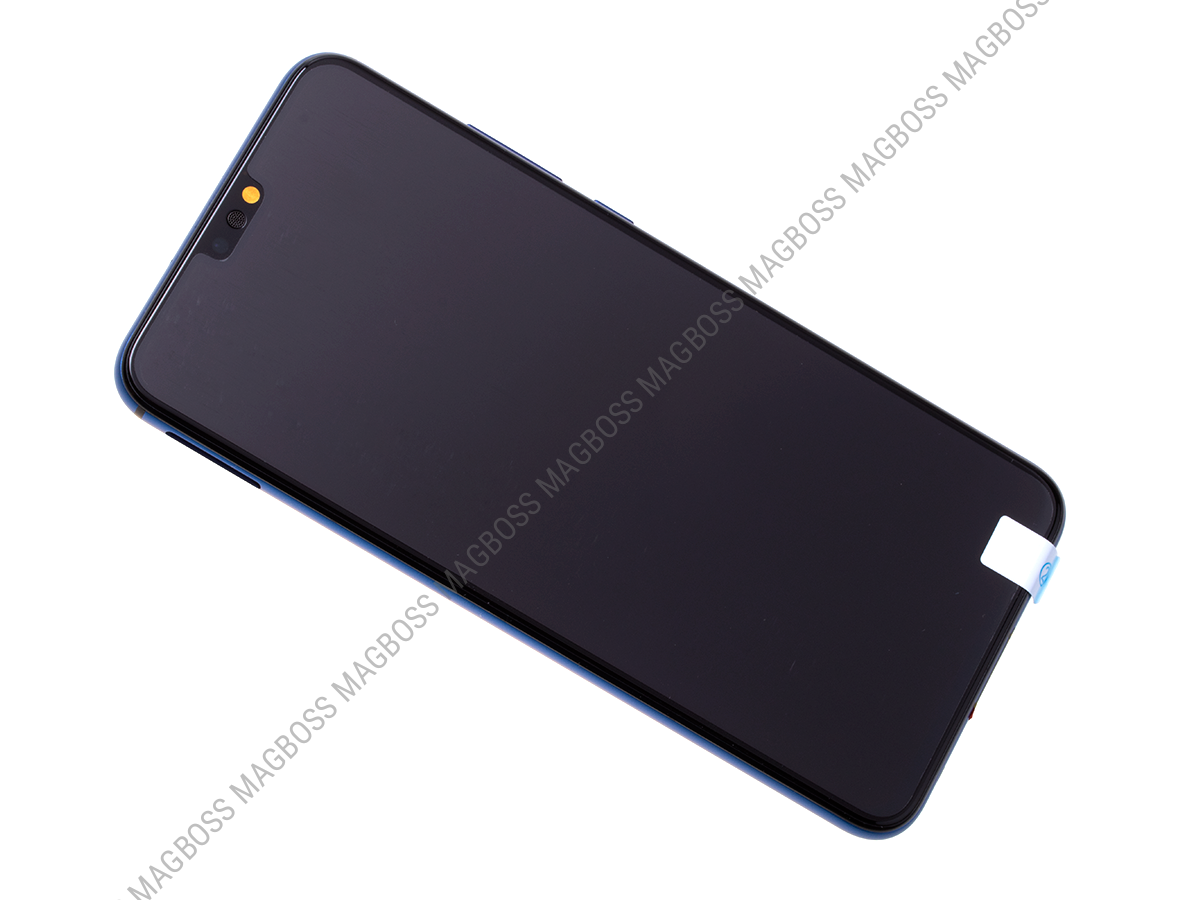 02352EAQ - Front cover with touch screen and LCD display Huawei Honor 8X - blue (original)
