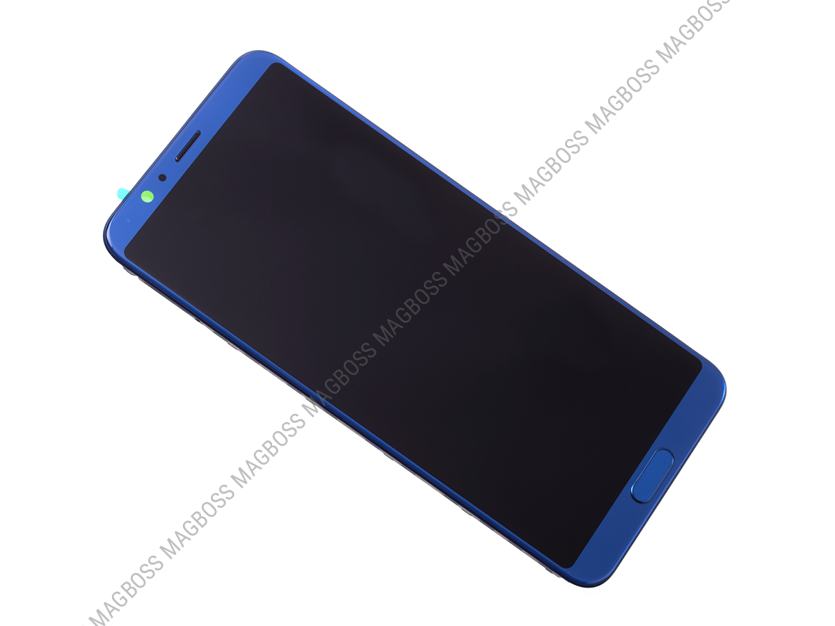 02351SXB - Front cover with touch screen and LCD display Huawei Honor View 10 - blue (original)