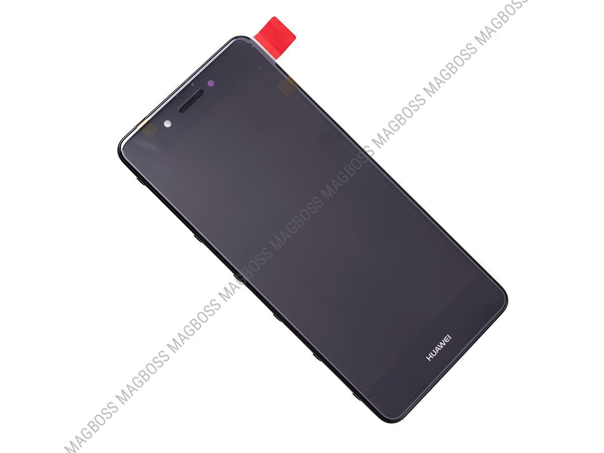 02351BKC - Front cover with touch screen and LCD display Huawei Nova Smart - black (original)