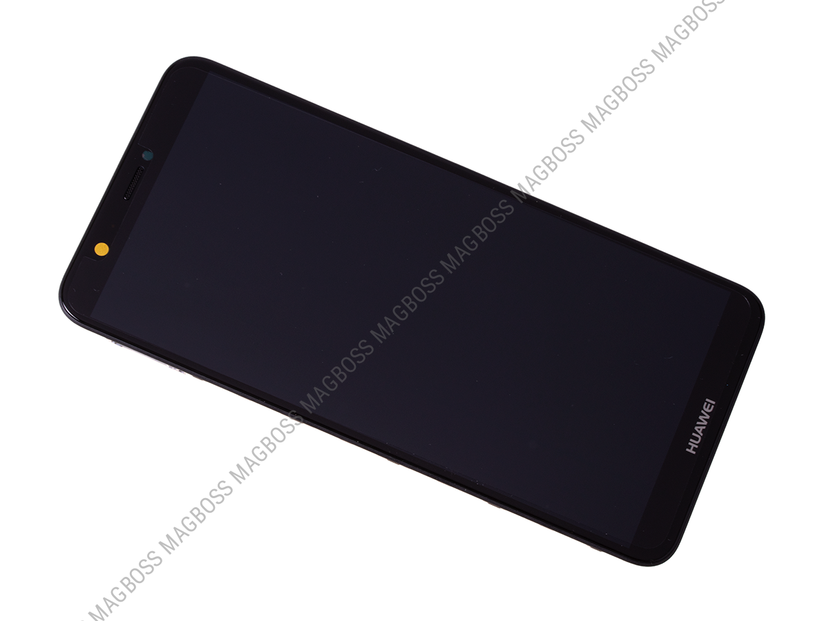 02351SVJ - Front cover with touch screen and LCD display Huawei P Smart - black (original)