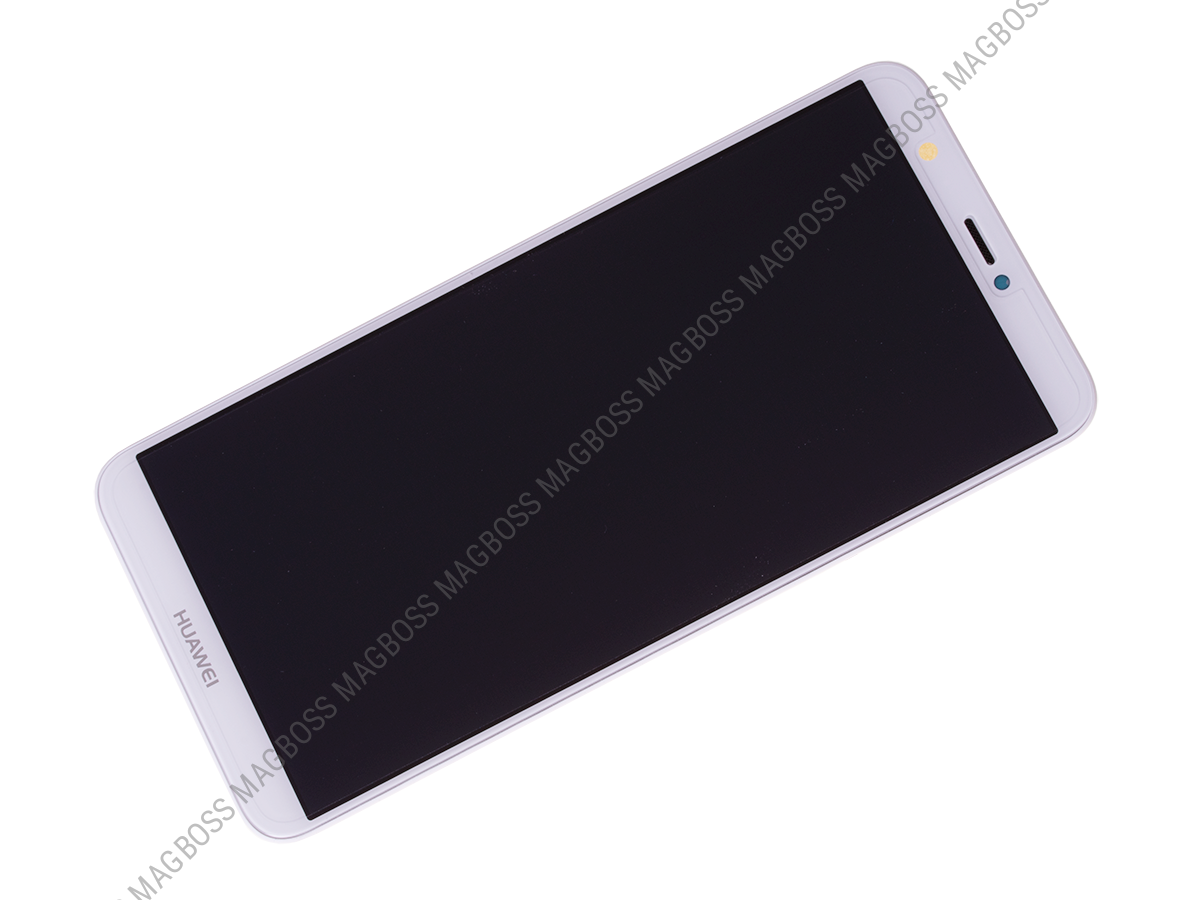 02351SVE - Front cover with touch screen and LCD display Huawei P Smart - white (original)