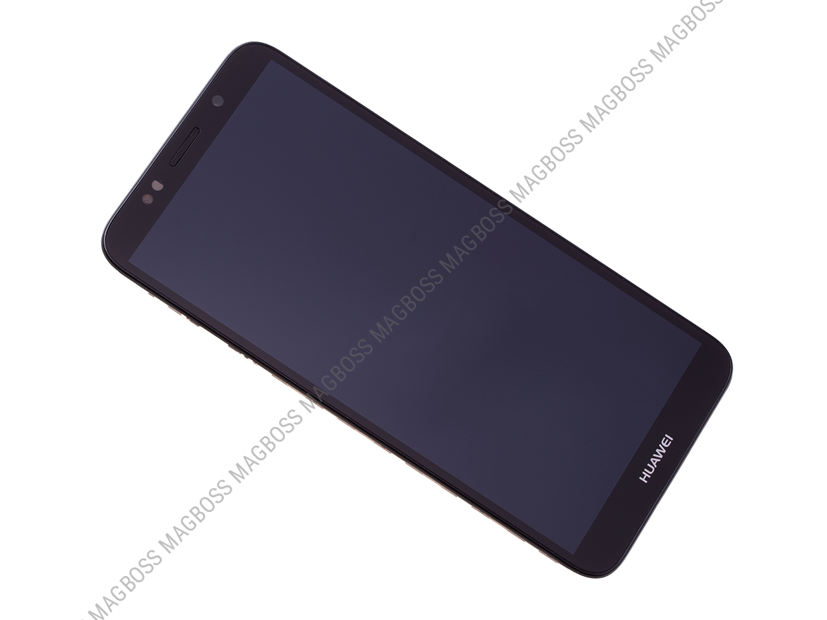 02351XHU - Front cover with touch screen and LCD display Huawei Y5 2018 - black (original)