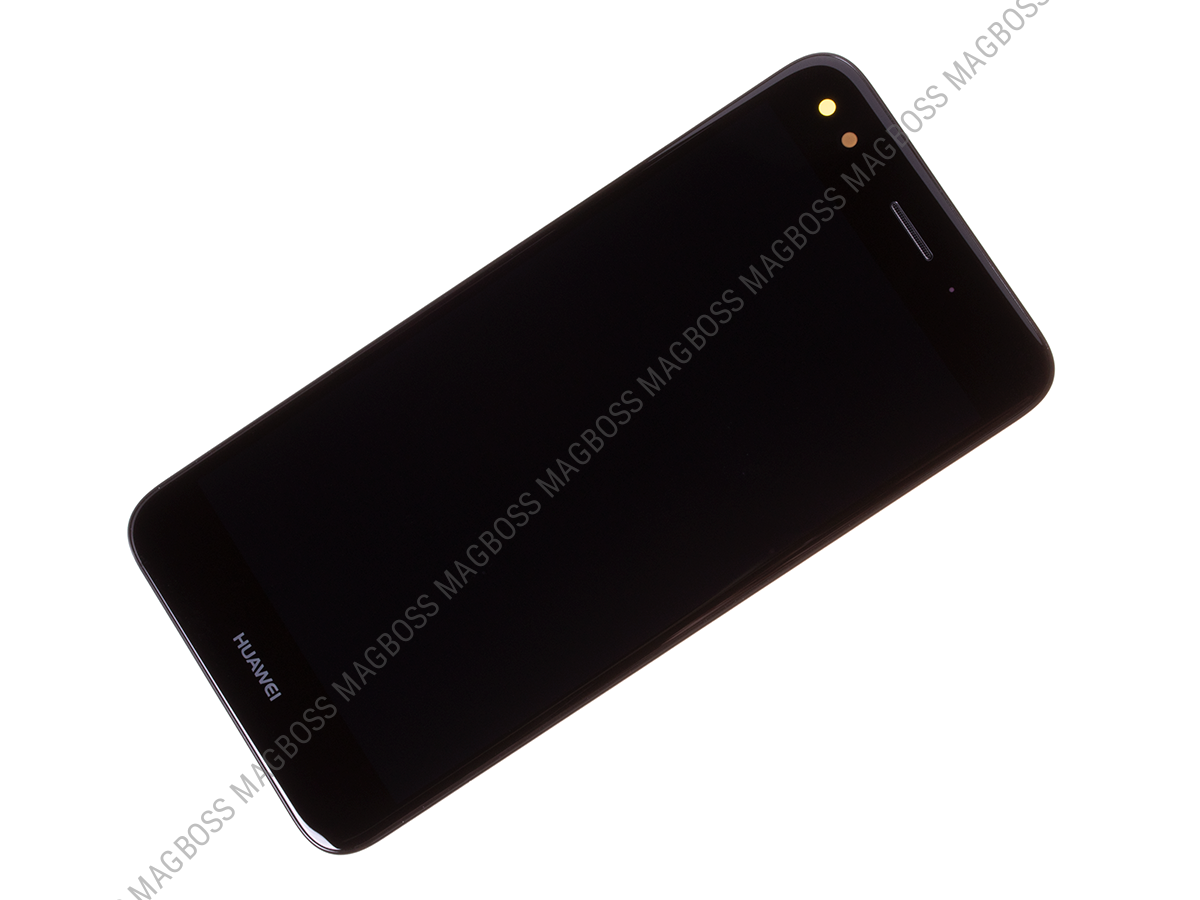 02351TVA - Front cover with touch screen and LCD display Huawei Y6 Pro 2017/ P9 Lite Mini - black (original)