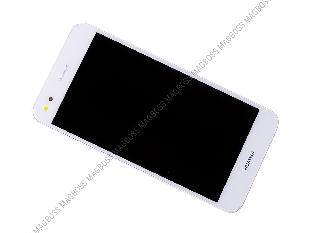 02351TUY - Front cover with touch screen and LCD display Huawei Y6 Pro 2017/ P9 Lite Mini - white (original)