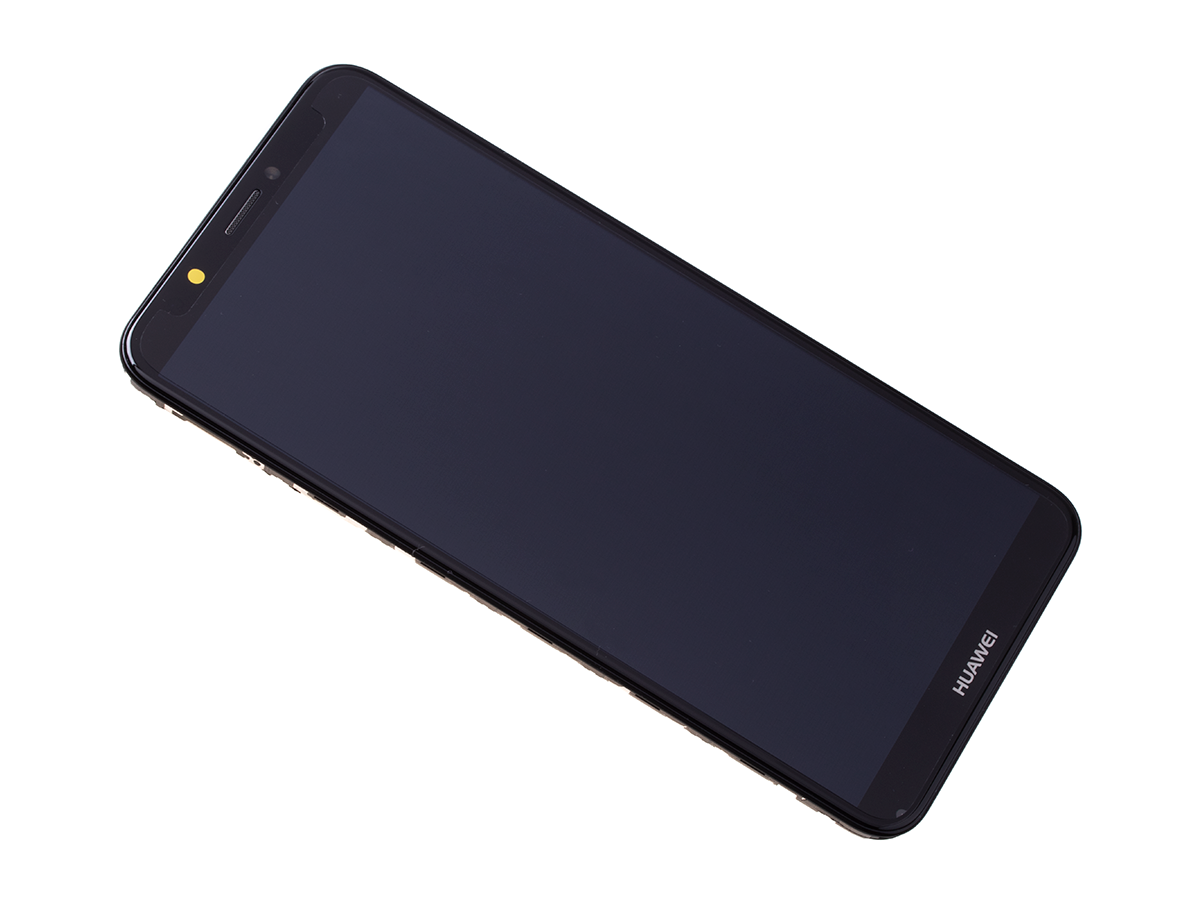 02351USA - Front cover with touch screen and LCD display Huawei Y7 2018 - black (original)