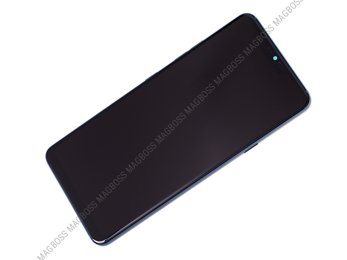 ACQ90244552 - Front cover with touch screen and LCD display LG G710 G7 ThinQ -  blue (original)
