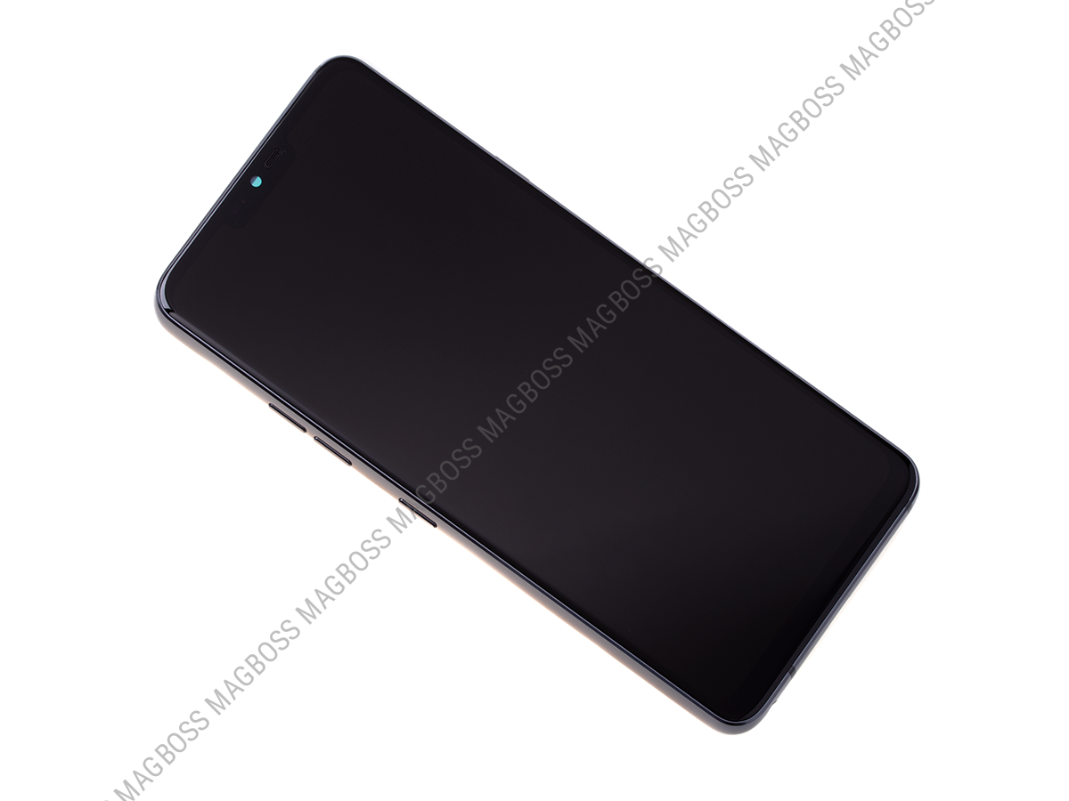 ACQ90244553 - Front cover with touch screen and LCD display LG G710 G7 ThinQ - grey (original)