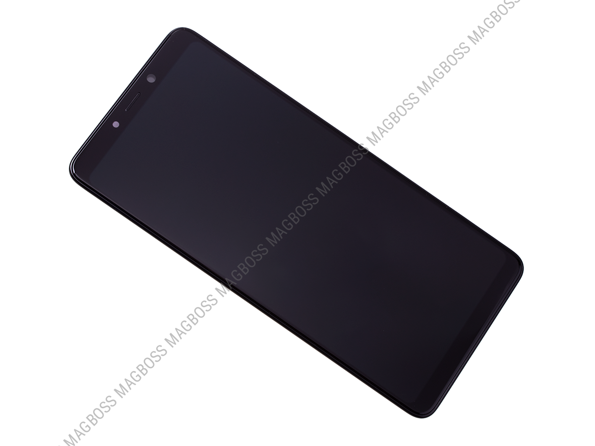 GH82-18308A - Front cover with touch screen and LCD display Samsung SM-A920 Galaxy A9 (2018) - black (original)