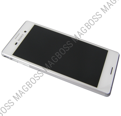 124TUL0010A - Front cover with touch screen and LCD display Sony E2303/ E2306/ E2353 Xperia M4 Aqua - white (original)