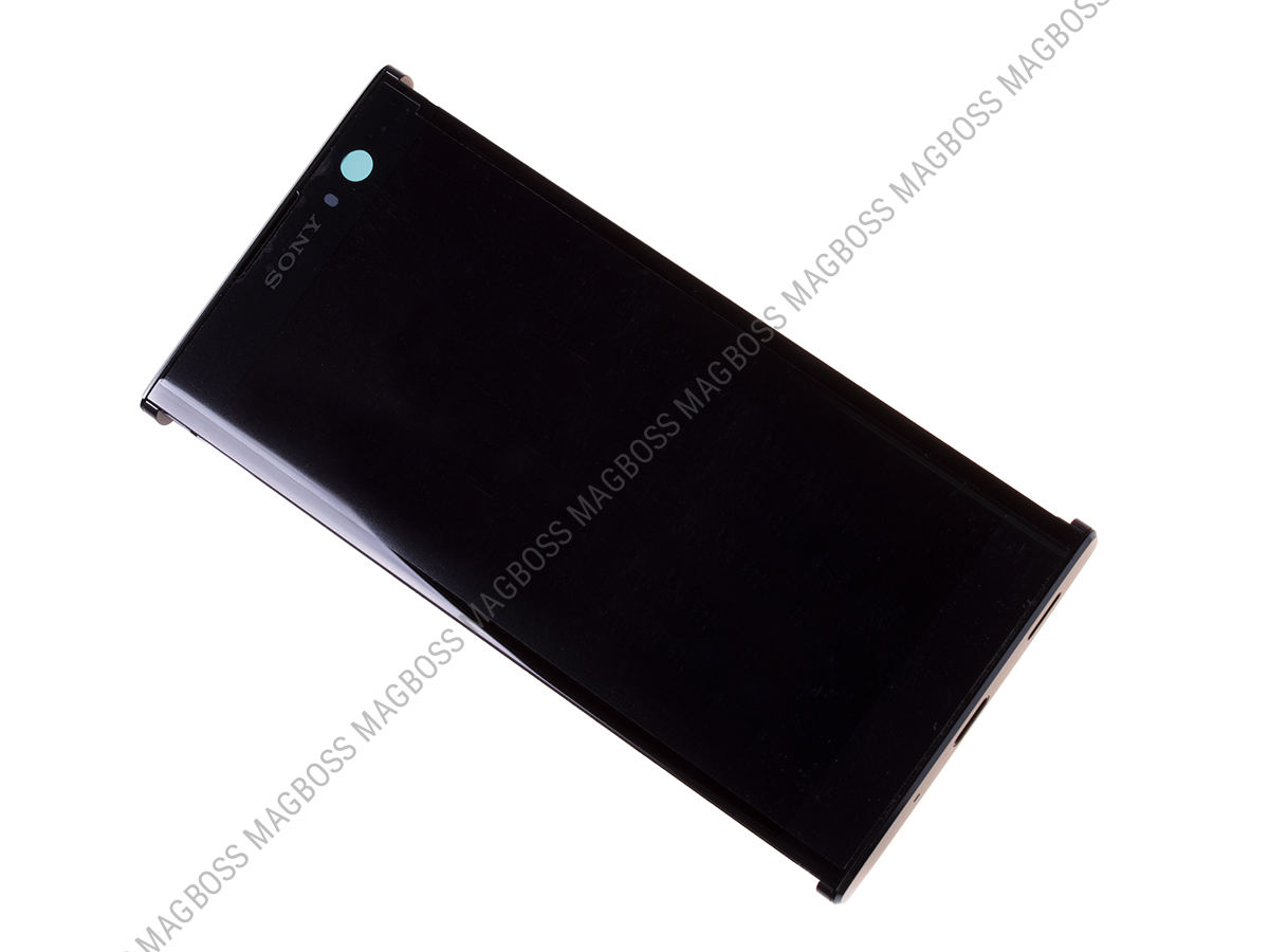 U50056851, 78PC0600020 - Front cover with touch screen and LCD display Sony H3113, H3123, H3133, H4113, H4133 Xperia XA2 - black (original)