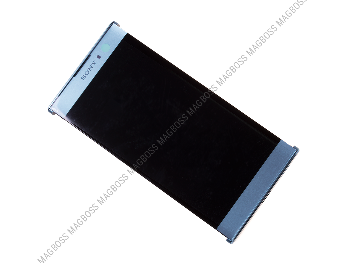 U50056841, 78PC0600030 - Front cover with touch screen and LCD display Sony H3113, H3123, H3133, H4113, H4133 Xperia XA2 - blue (original)