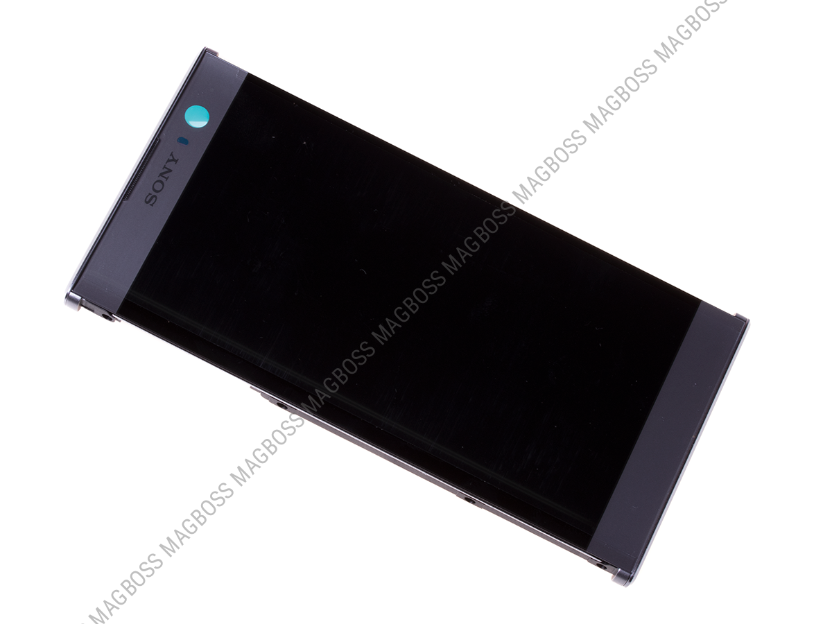 U50056861, 78PC0600010 - Front cover with touch screen and LCD display Sony H3113, H3123, H3133, H4113, H4133 Xperia XA2 - silver (original)