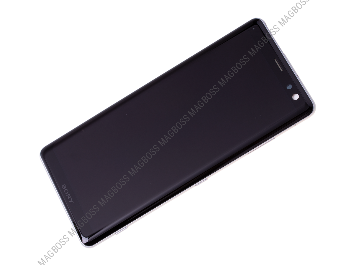 U50053482, 1315-5027 - Front cover with touch screen and LCD display Sony H8416 Xperia XZ3/ H9436, H9493 Xperia XZ3 Dual SIM - white (original)