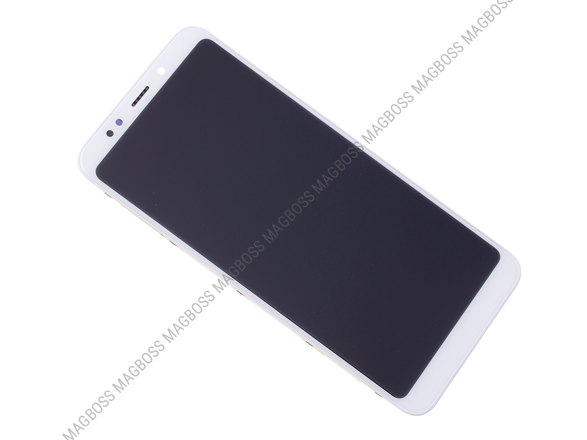 560410024033 - Front cover with touch screen and LCD display Xiaomi Redmi 5 Plus - white (original)