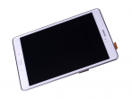 GH97-17424C - Front cover with touch screen and display LCD Samsung SM-T555 Galaxy Tab 9.7 A LTE - white (original...