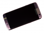 GH97-18533E - Touch screen and LCD display Samsung SM-G935F Galaxy S7 Edge - pink - gold (original)