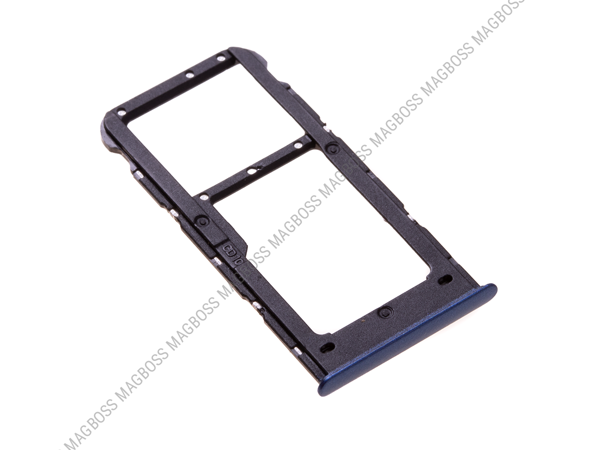 51661HSE - SIM tray Huawei P Smart - blue (original)
