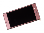U50061571, 1307-9873 - Front cover with touch screen and LCD display Sony G8141 Xperia XZ Premium - pink (original)